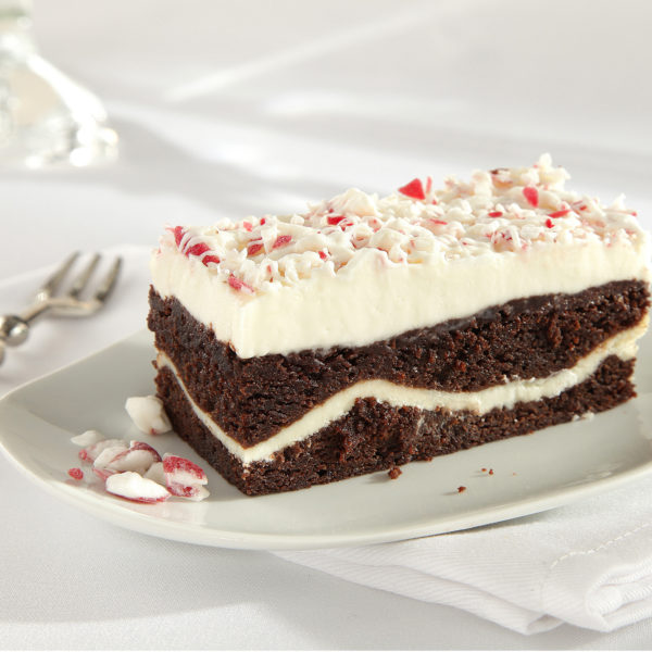 Peppermint Brownie Stack